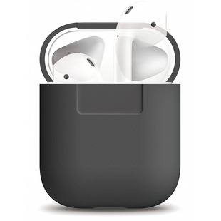 Чехол для Apple AirPods (Elago Silicone Case EAPSC-DGY) (серый)