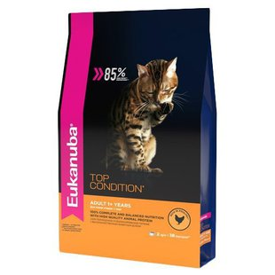 Корм для кошек Eukanuba Adult Dry Cat Food 85% Top condition