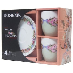 Domenik Чайный набор CROWN OF FLOWERS 250мл 4 предмета