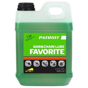 Масло для смазки цепи PATRIOT Favorite Bar & Chain lube 1.892 л