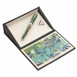 Ручка перьевая Visconti Van Gogh 2014 IRISES (78349A10MP) зеленый (M) (упак.:1шт) перо сталь сталь